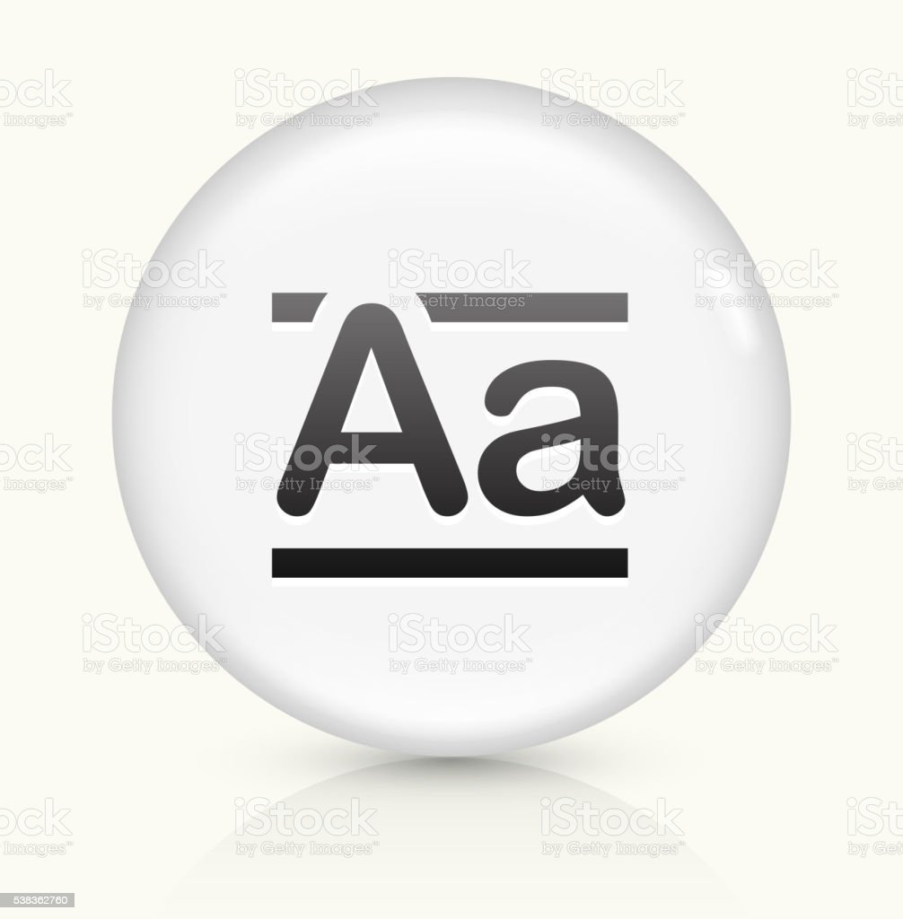 Alphabet A icon on white round vector button vector art illustration