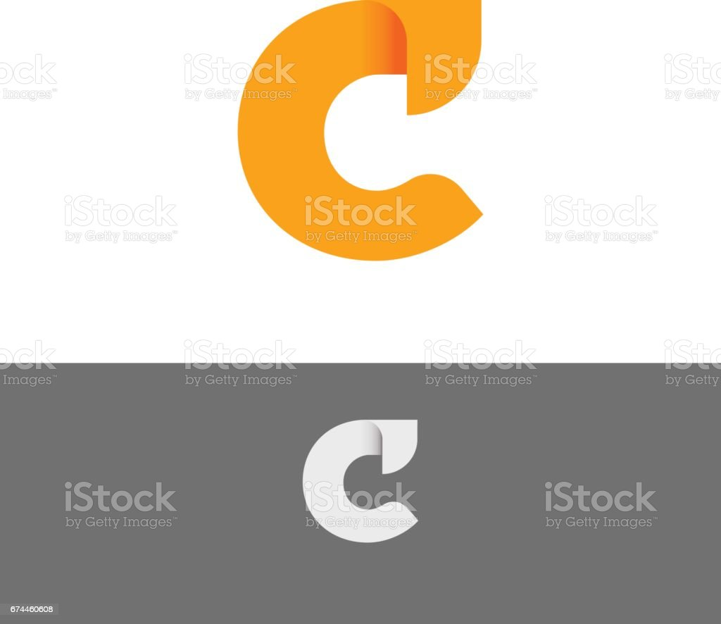 C Alphabet Abstract Letter vector icon illustration vector art illustration
