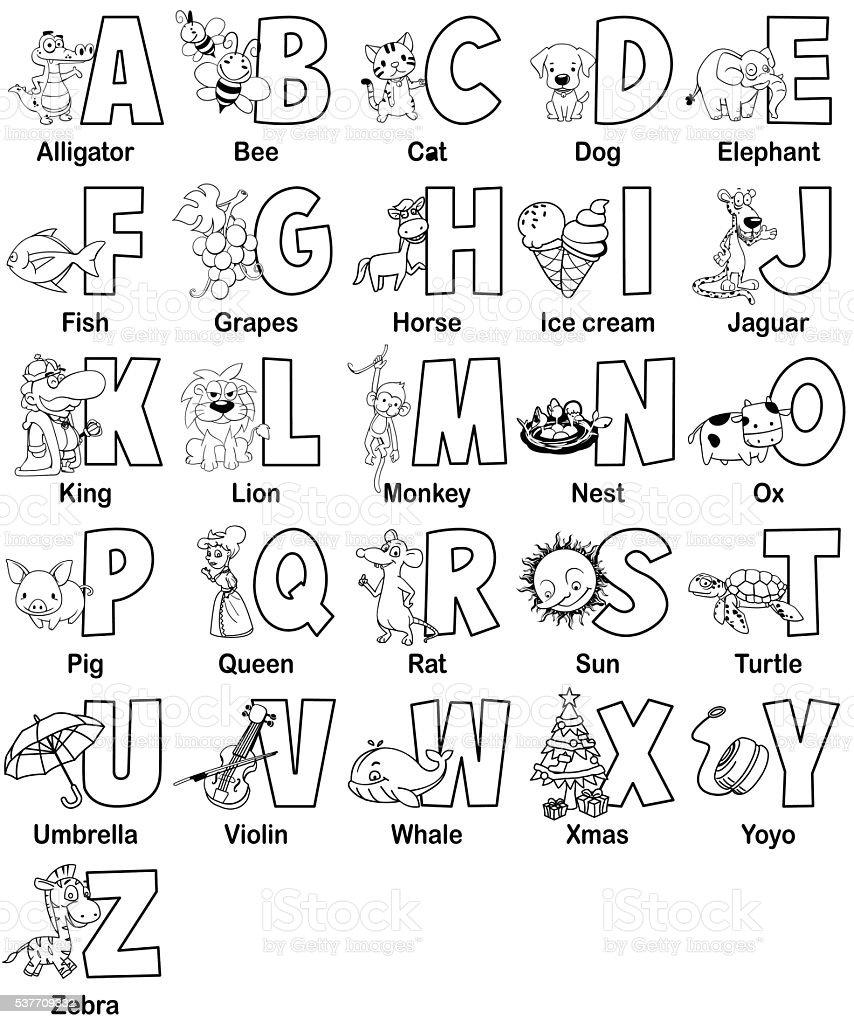 Alphabet collection royalty-free stock vector art