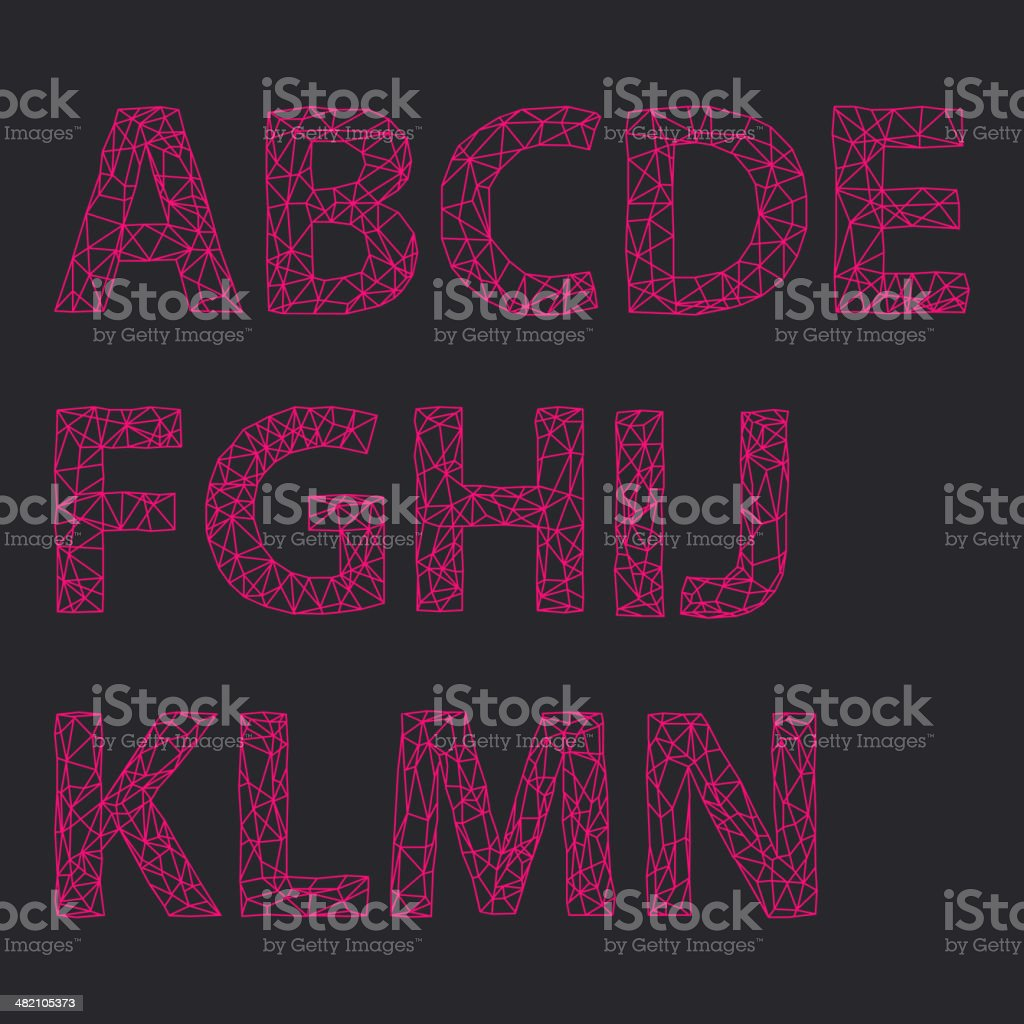 Alphabet Design Set royalty-free stock vector art