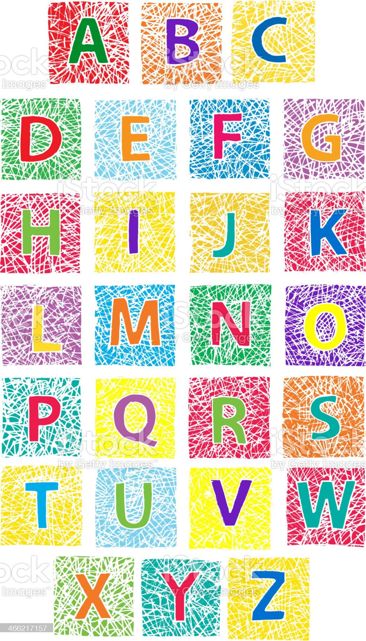 Alphabet for children royalty-free stock vector art