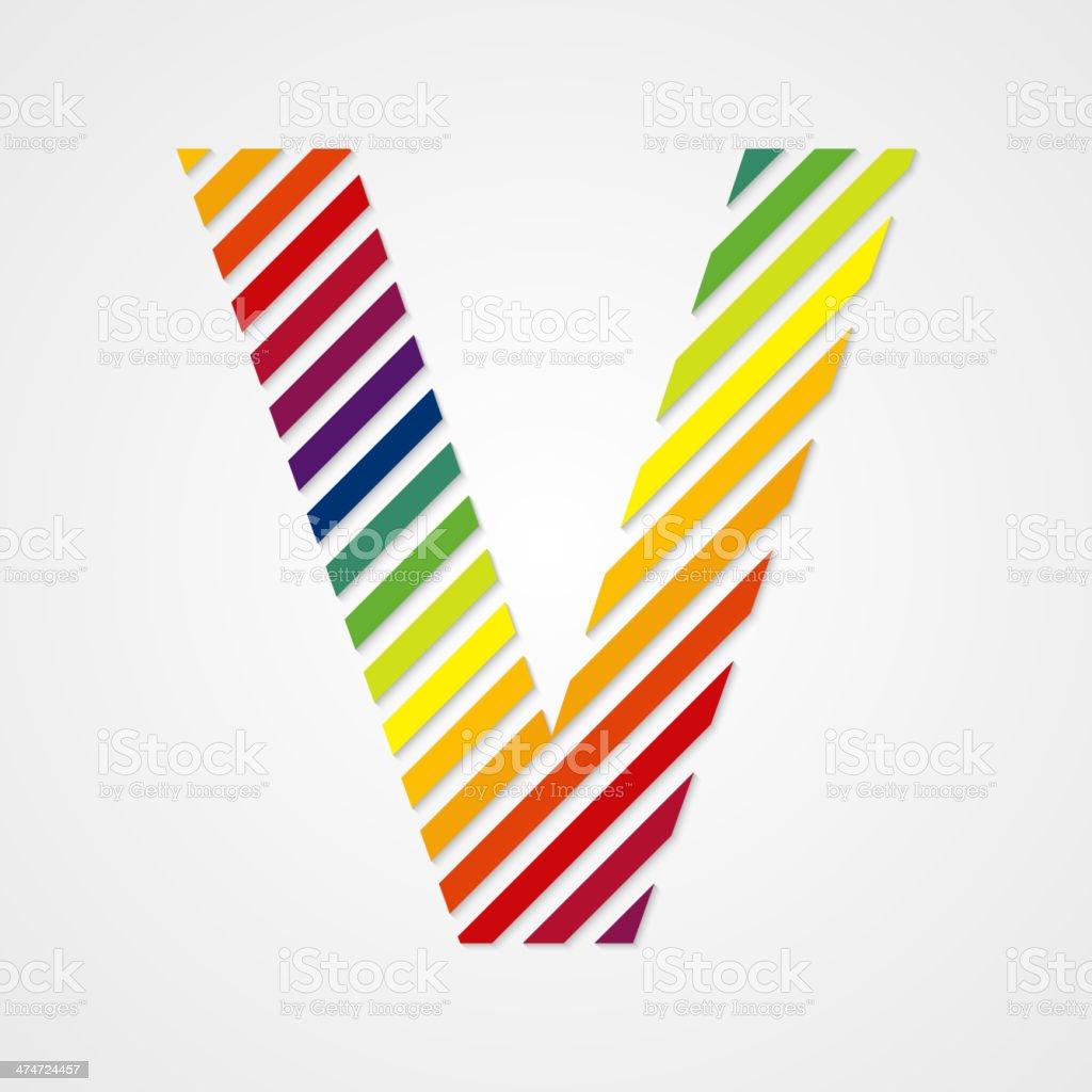 Alphabet. Letter V royalty-free stock vector art