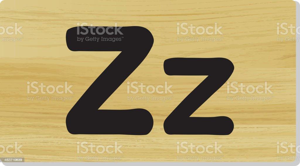 Alphabet letter royalty-free stock vector art