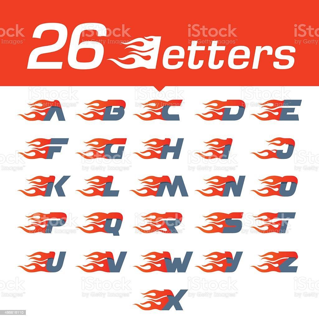 Alphabet letters set. vector art illustration