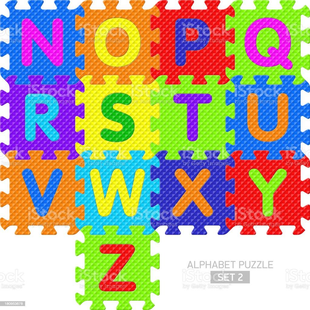 Alphabet puzzle royalty-free stock vector art