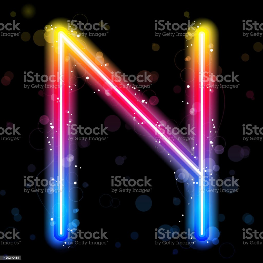 Alphabet Rainbow Lights  Glitter with Sparkles royalty-free stock vector art