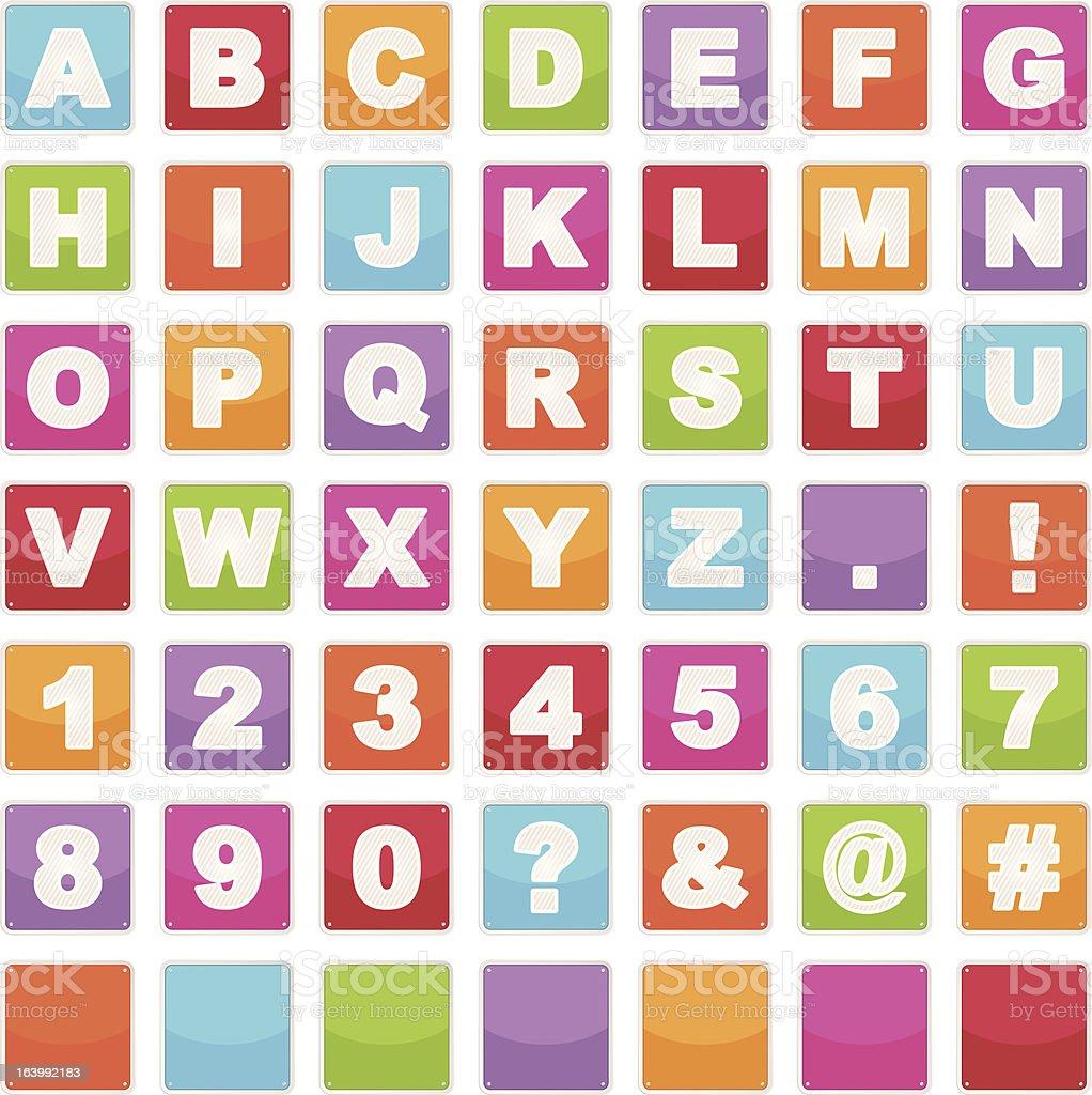 alphabet signs royalty-free stock vector art