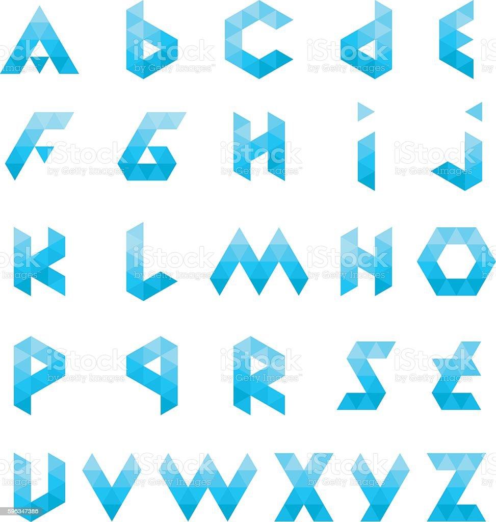Alphabet Triangle Polygon Letter Logos vector art illustration