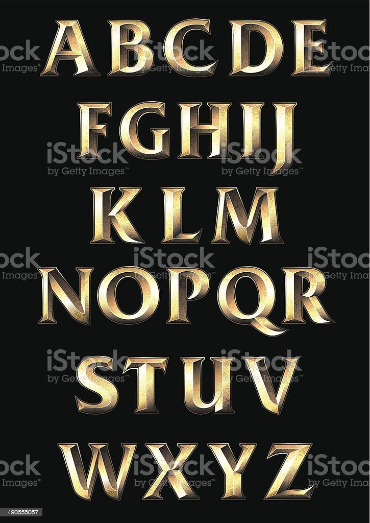 Alphabet vector art illustration
