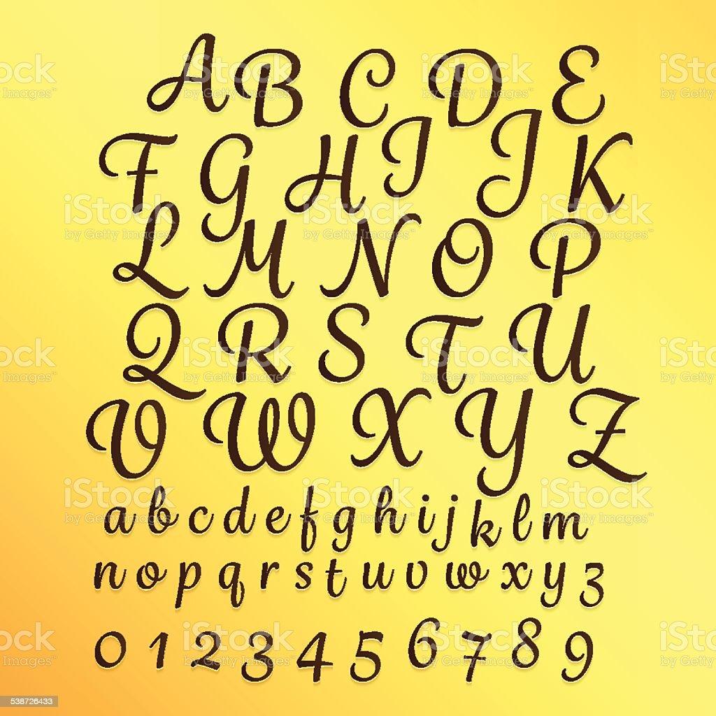 Alphabet_Master_Type vector art illustration
