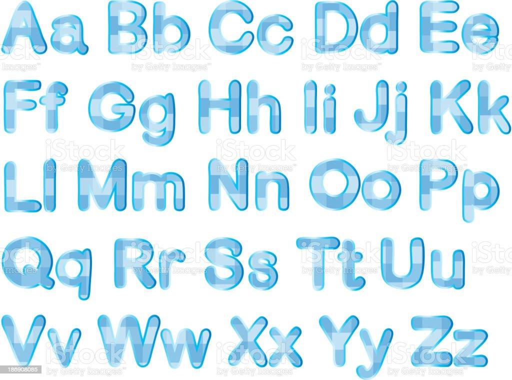 alphabets royalty-free stock vector art