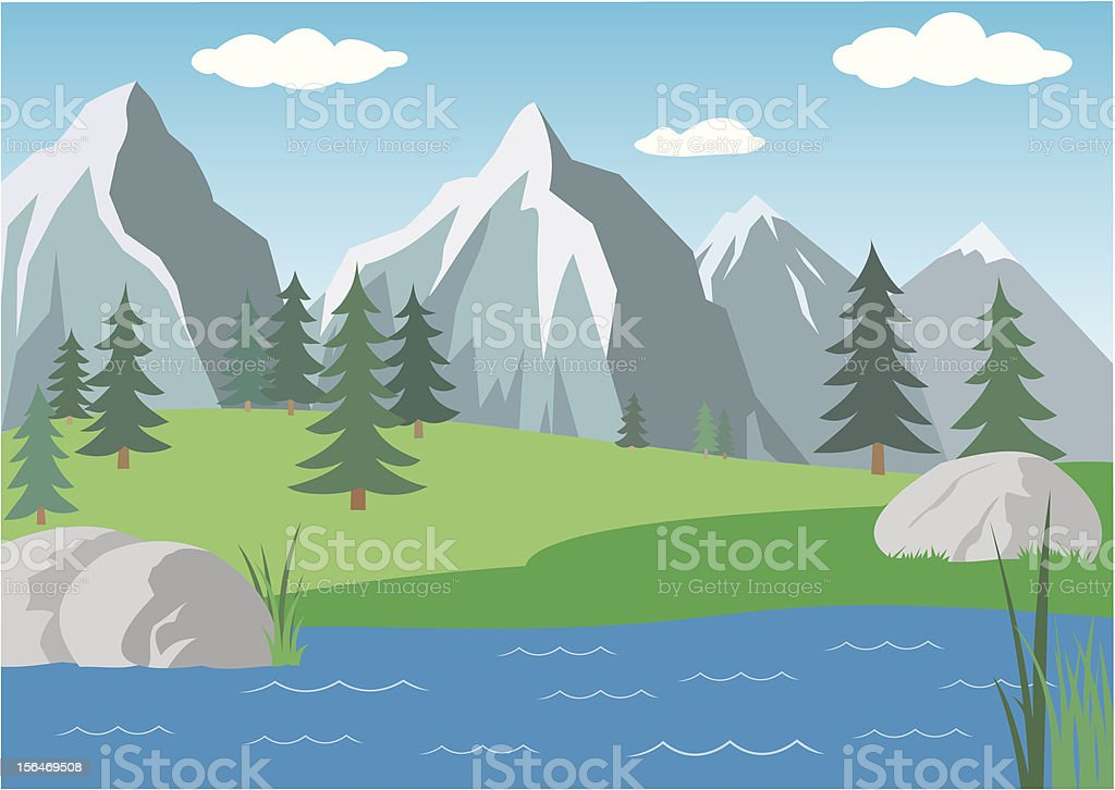 Alpen landscape royalty-free stock vector art