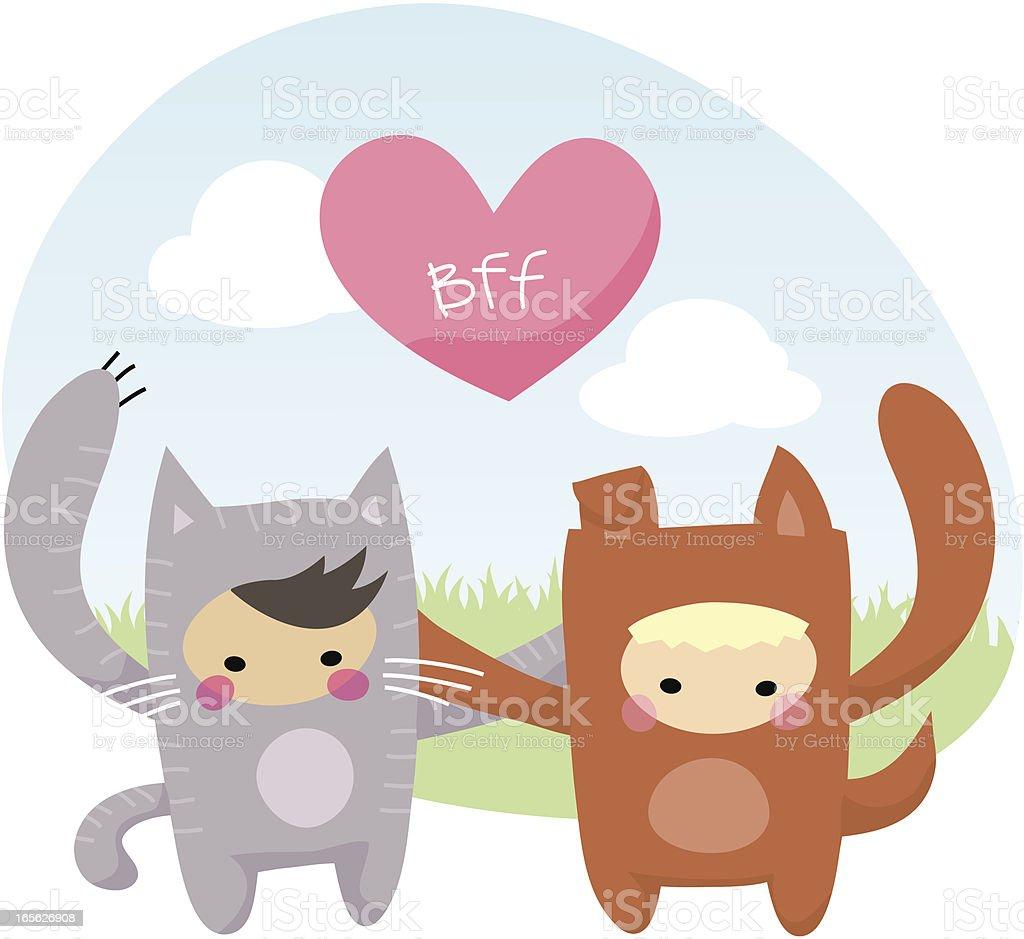 BFF (Best Friends Forever) - Alternate vector art illustration