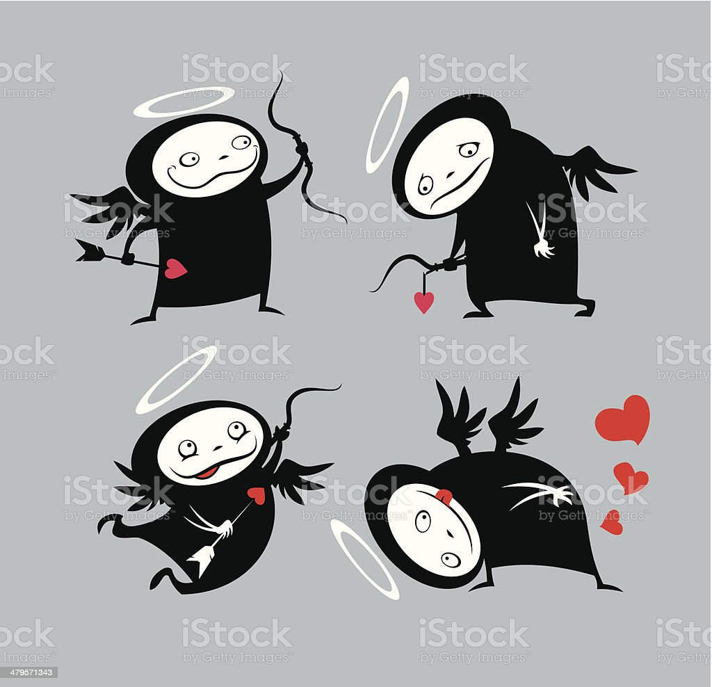Alternative cupids royalty-free stock vector art