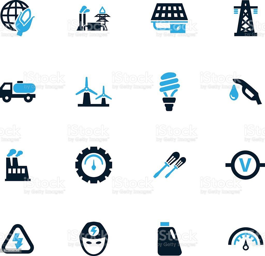 Alternative energy icons set vector art illustration