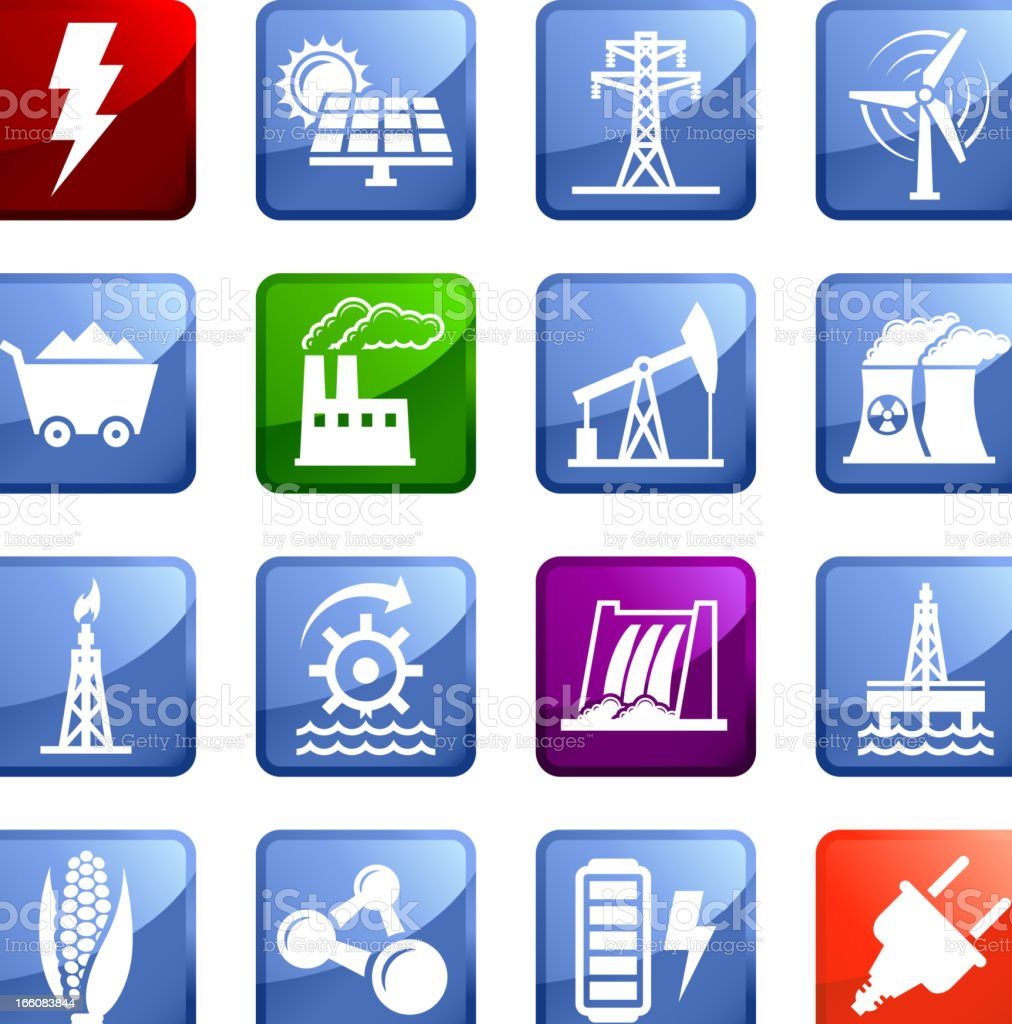 alternative energy options royalty vector icon set stickers air pollution battery cable computer cable concepts topics alternative energy