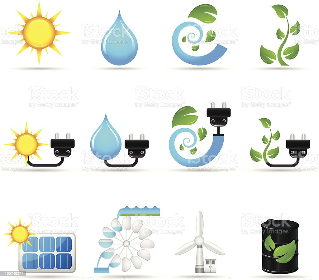 Alternative Energy Sources | Real Series royalty-free stock vector art