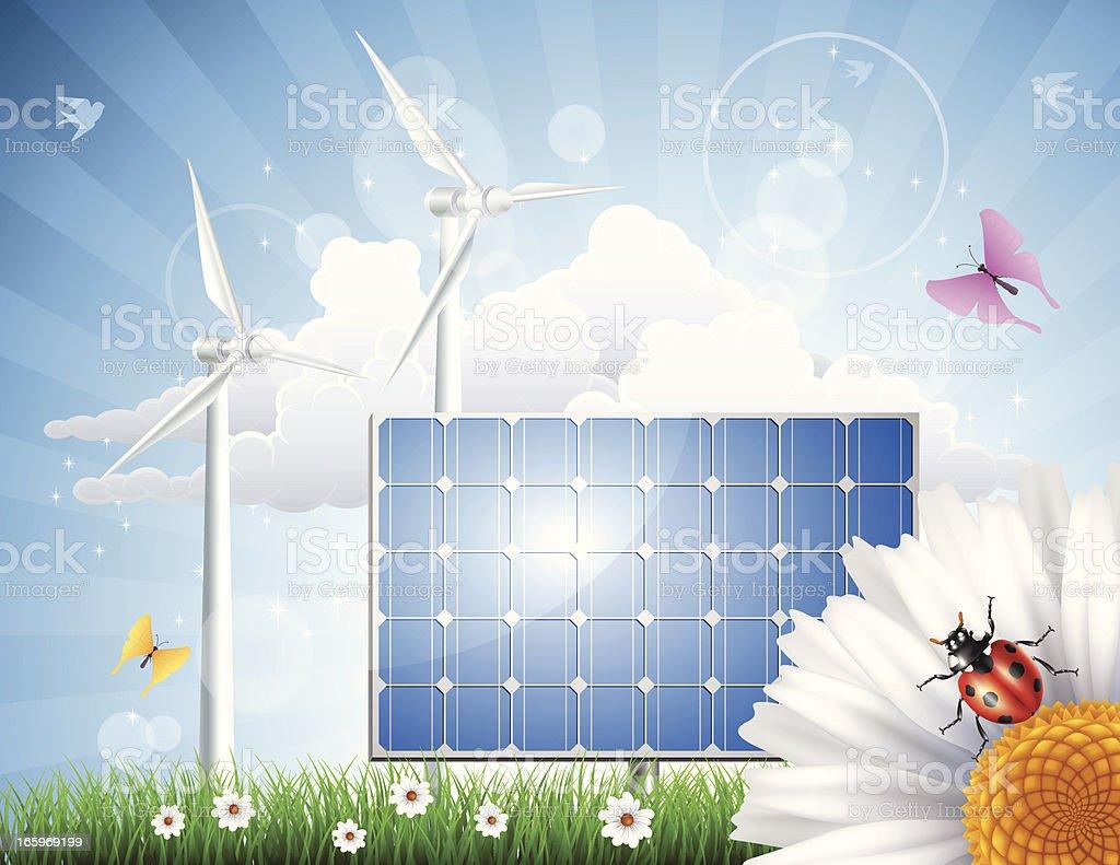Alternative Energy royalty-free stock vector art