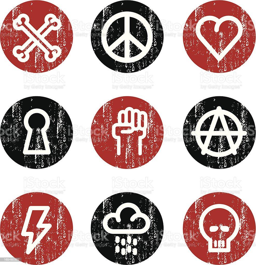 Alternative  grunge set royalty-free stock vector art