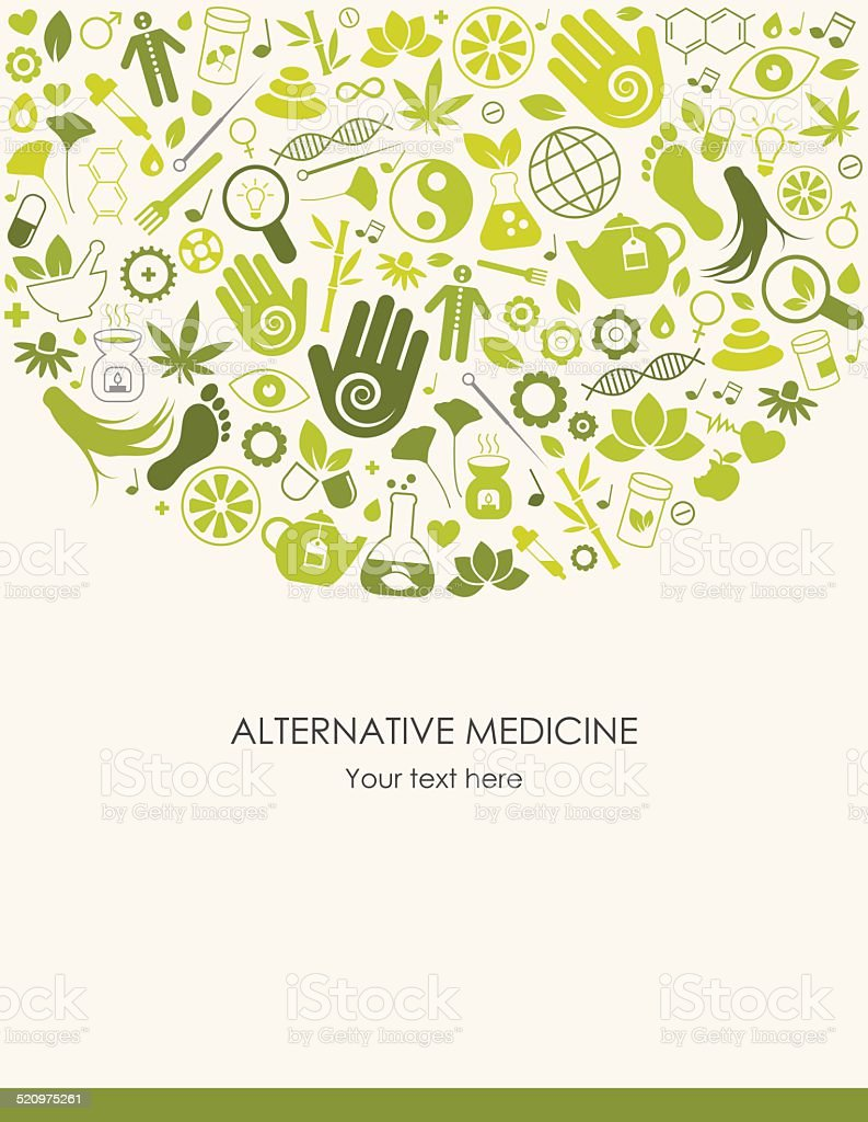 Alternative Medicine Background vector art illustration