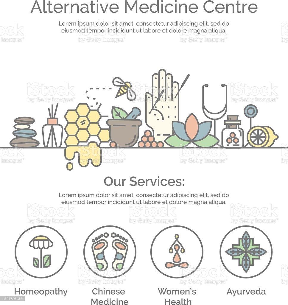 Alternative Medicine centre vector concept. vector art illustration