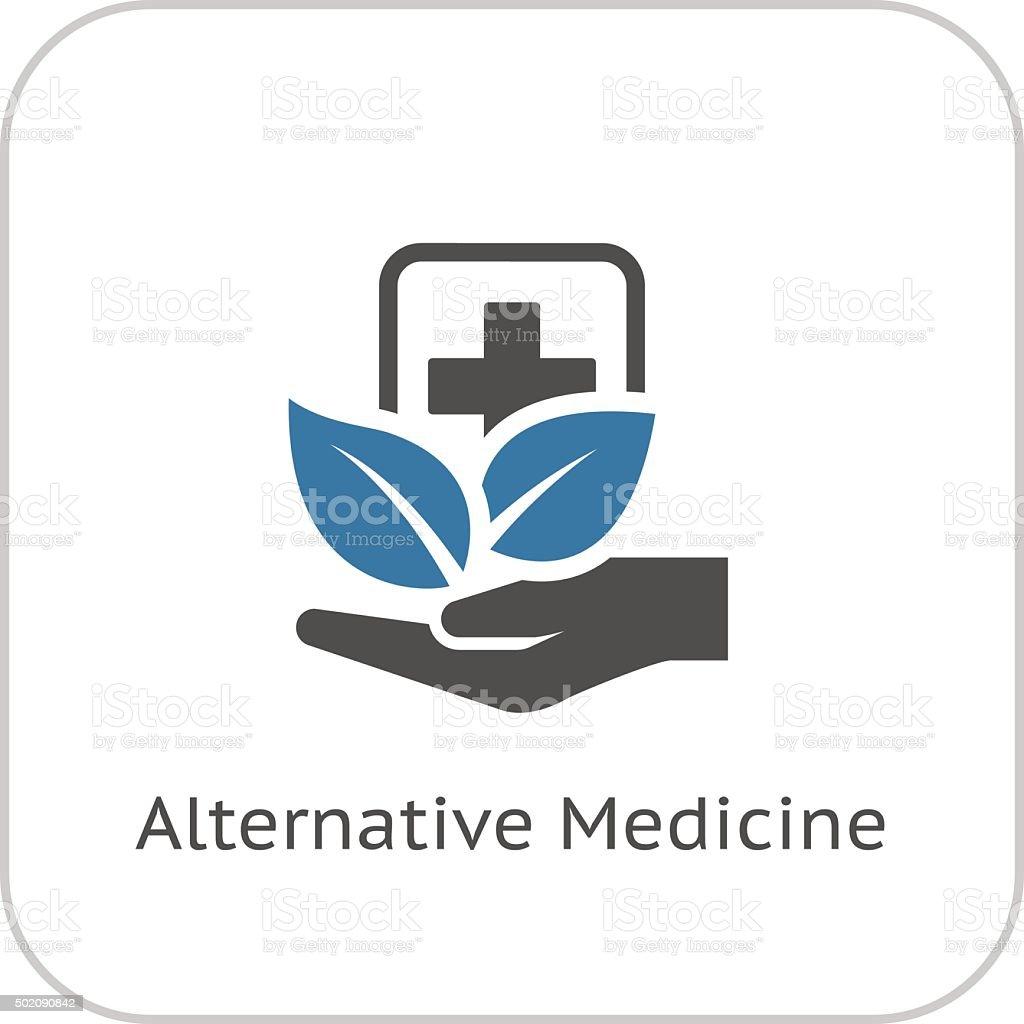 Alternative Medicine Icon. Flat Design. vector art illustration