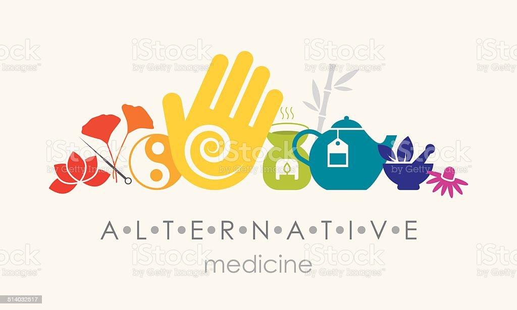 Alternative Medicine Sign vector art illustration