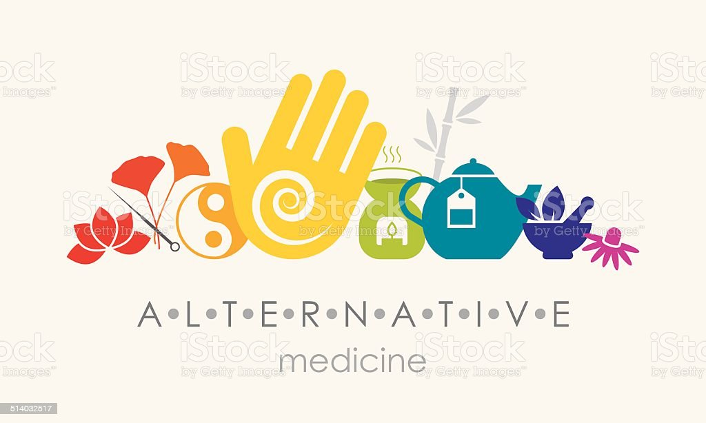 Alternative Medicine Sign vector art illustration