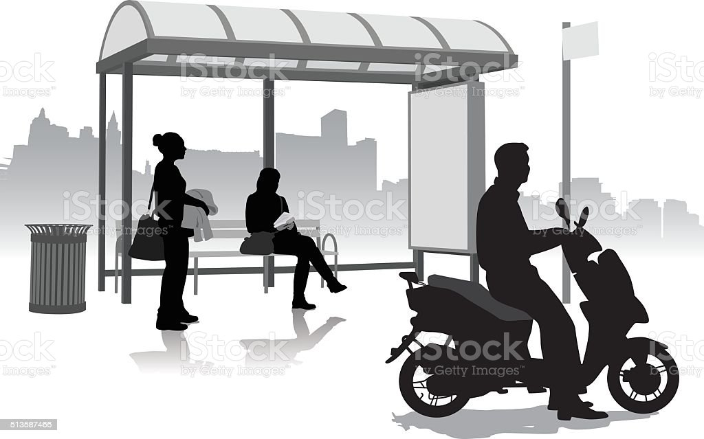 AlternativeScooterTransport vector art illustration