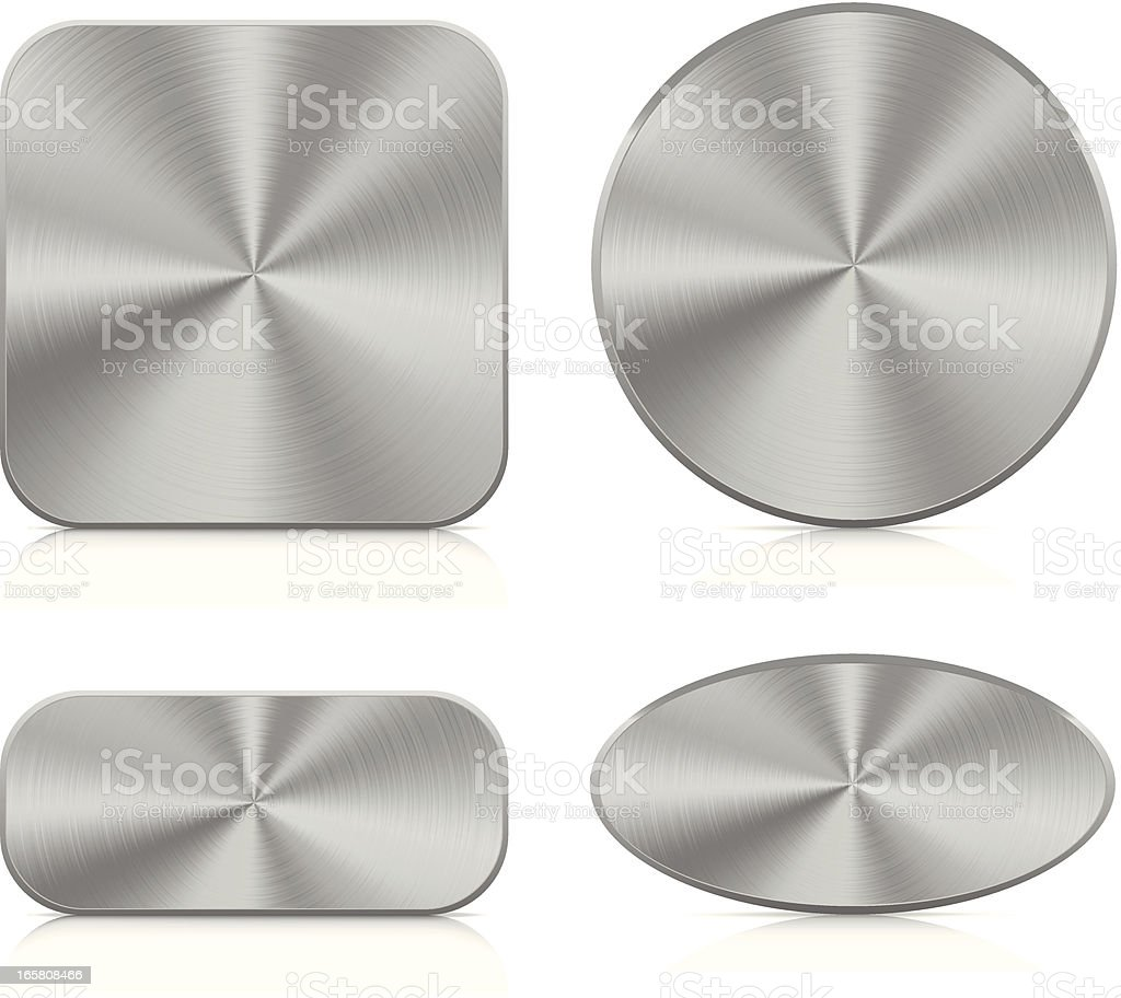 Aluminium buttons | blank set royalty-free stock vector art