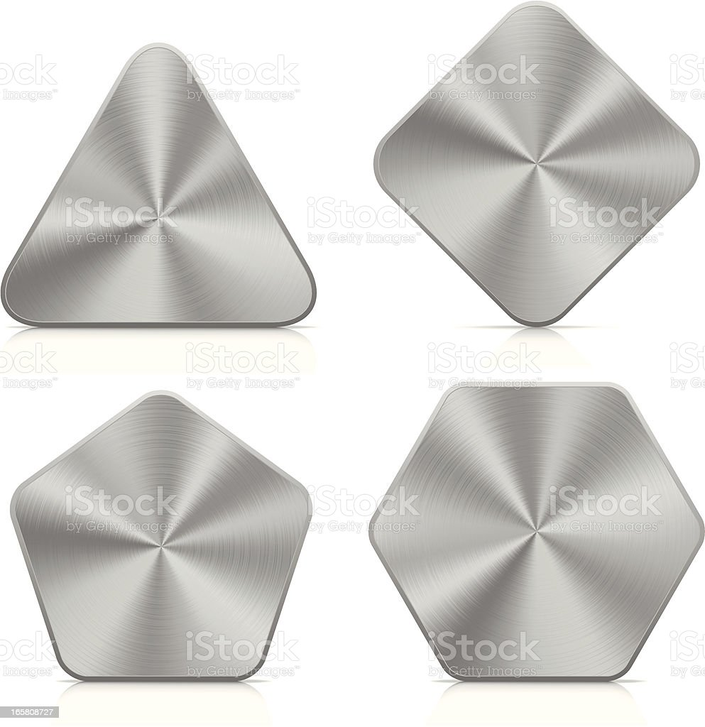 Aluminium buttons | set royalty-free stock vector art