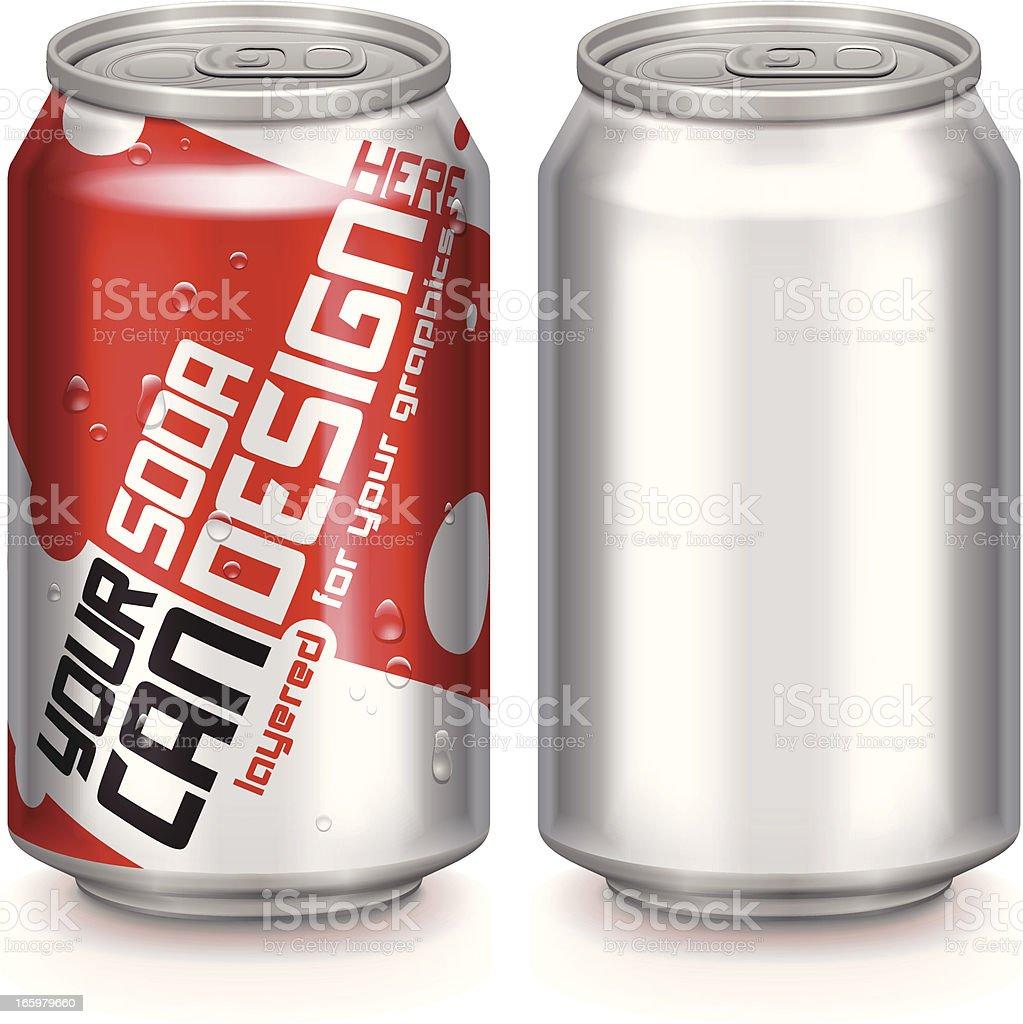 Aluminium Drinks Can vector art illustration