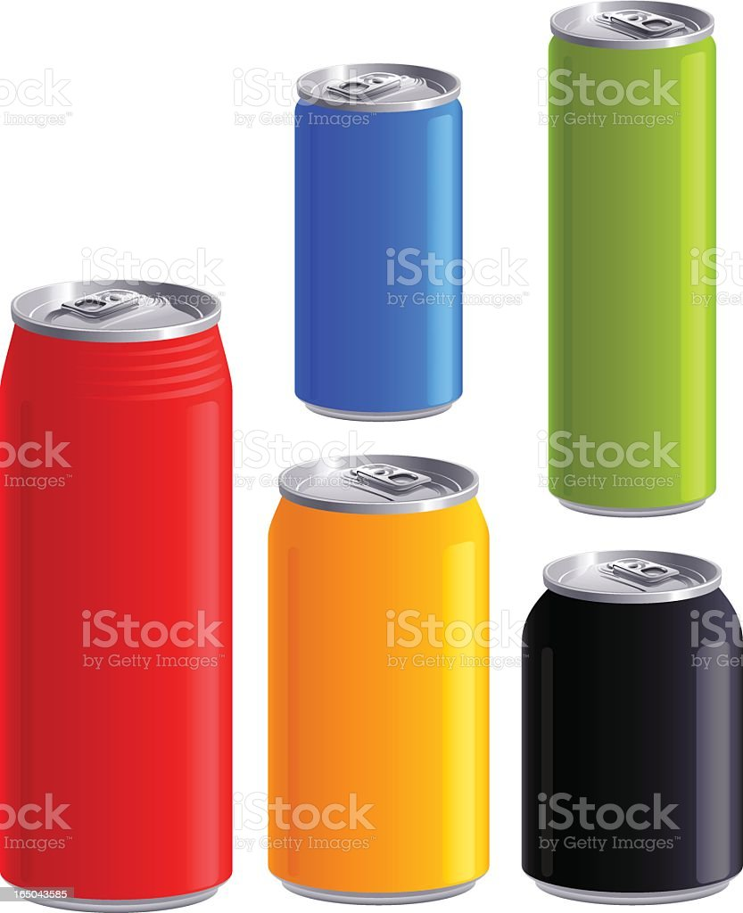 aluminum can (vector) royalty-free stock vector art