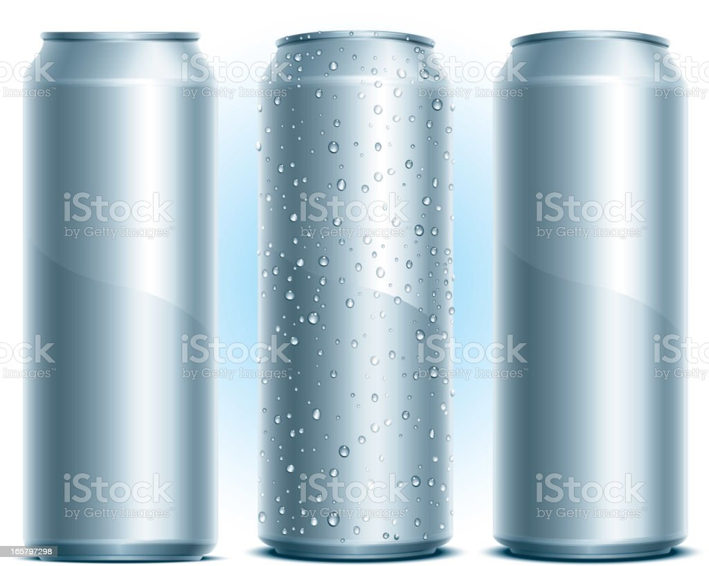Aluminum Drink Can royalty-free stock vector art