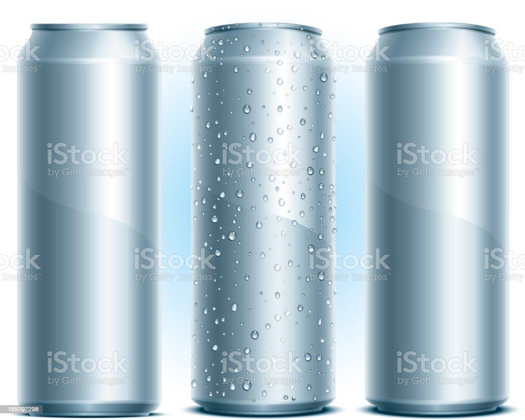 Aluminum Drink Can vector art illustration