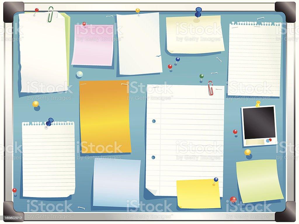Aluminum framed bulletin board royalty-free stock vector art