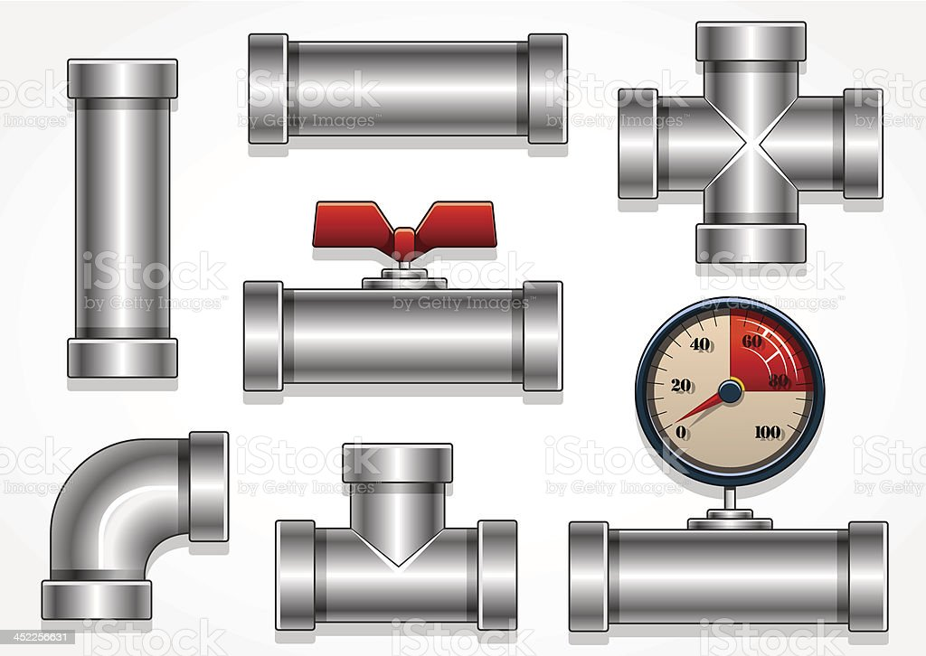 aluminum pipes royalty-free stock vector art