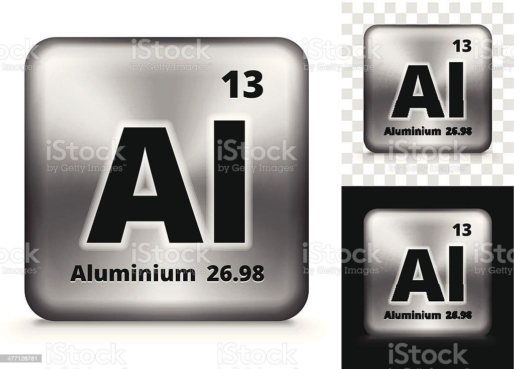 Aluminum Square Element Background Set vector art illustration