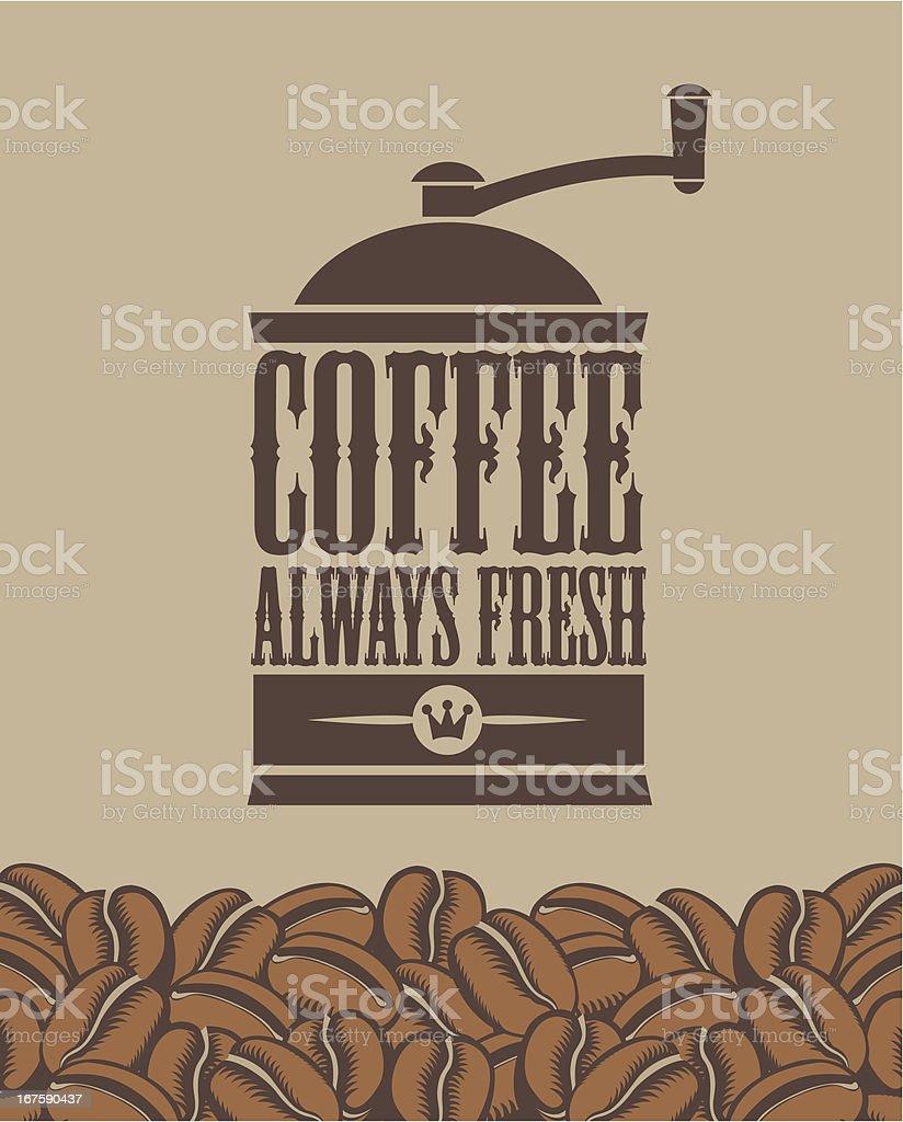 always fresh coffee vector art illustration