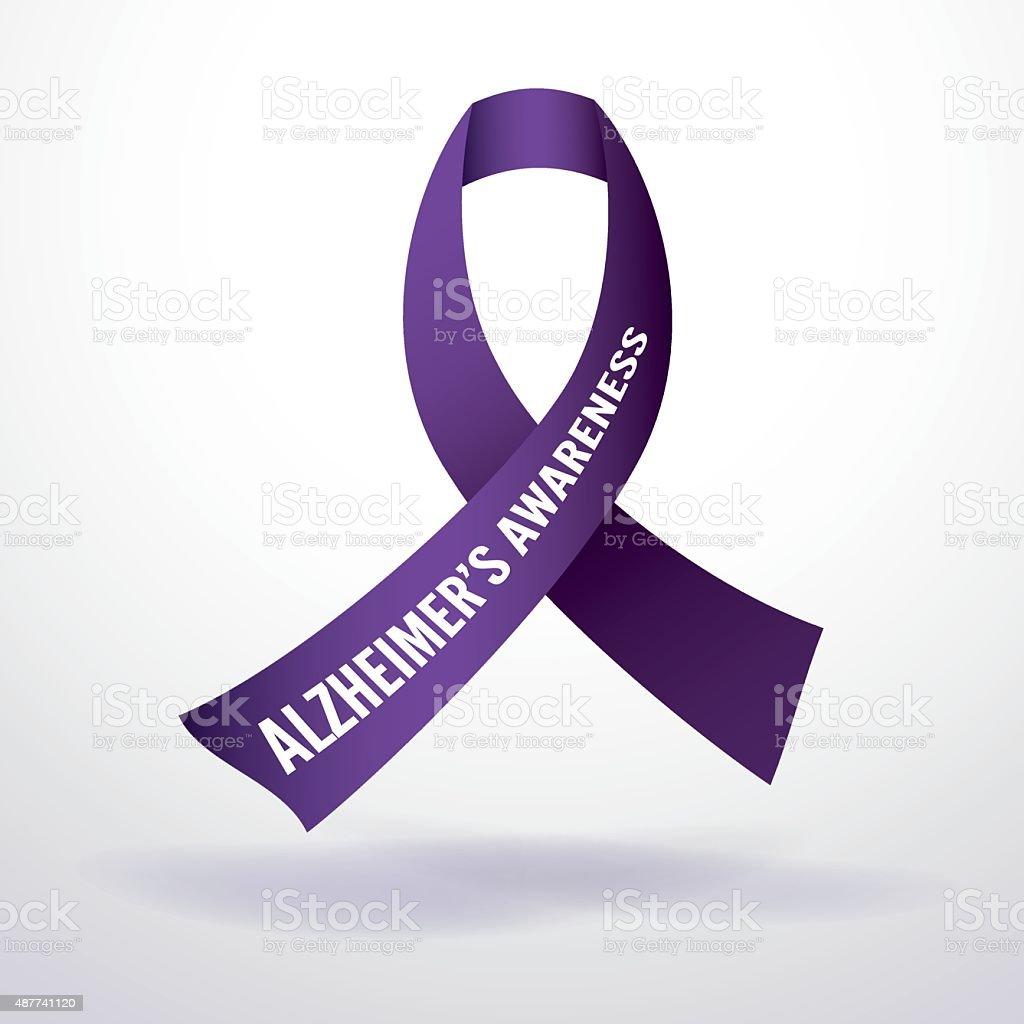 Alzheimer's Disease Awareness Ribbon Illustration vector art illustration