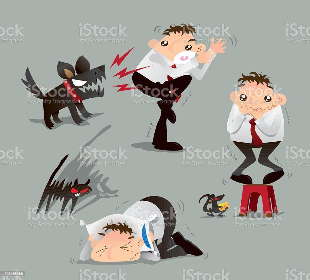 I am scared. vector art illustration