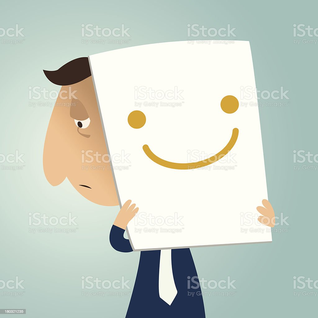 I am smiling and happy! vector art illustration