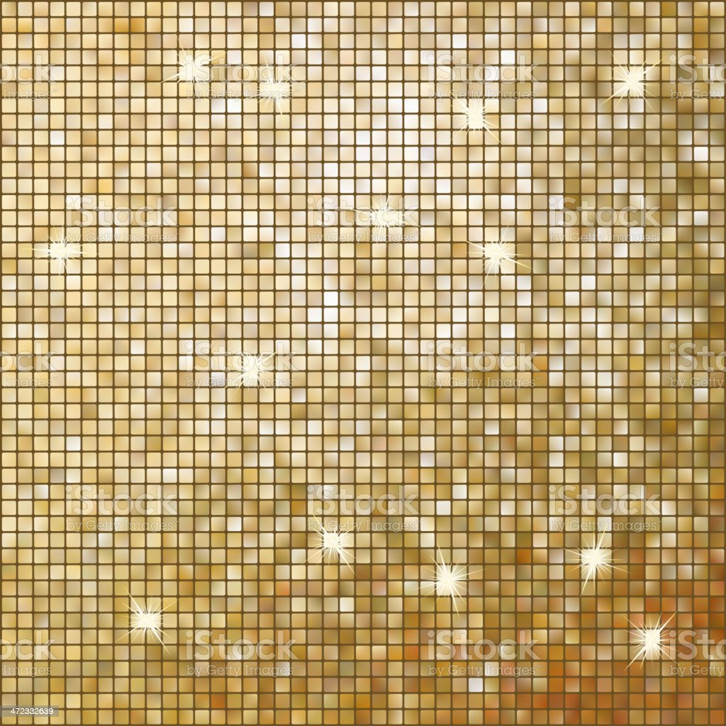 Amazing template on gold glittering. EPS 10 royalty-free stock vector art