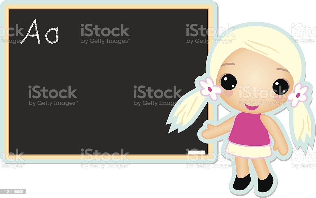 amber at school royalty-free stock vector art