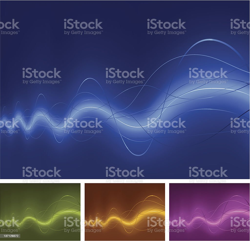ambient rhythm waves royalty-free stock vector art