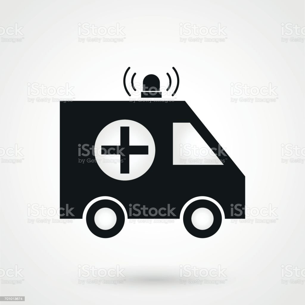 Ambulance icon vector vector art illustration