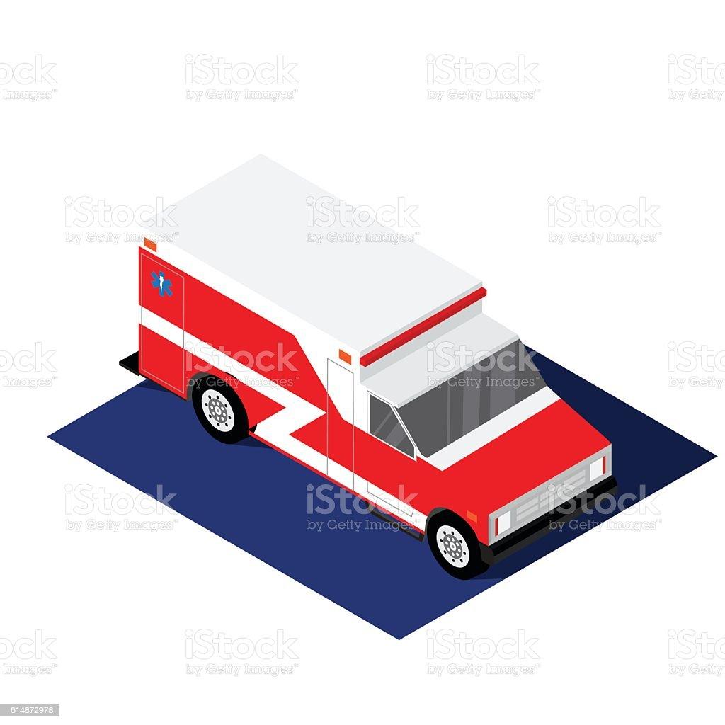 Ambulance isometric vector illustration vector art illustration