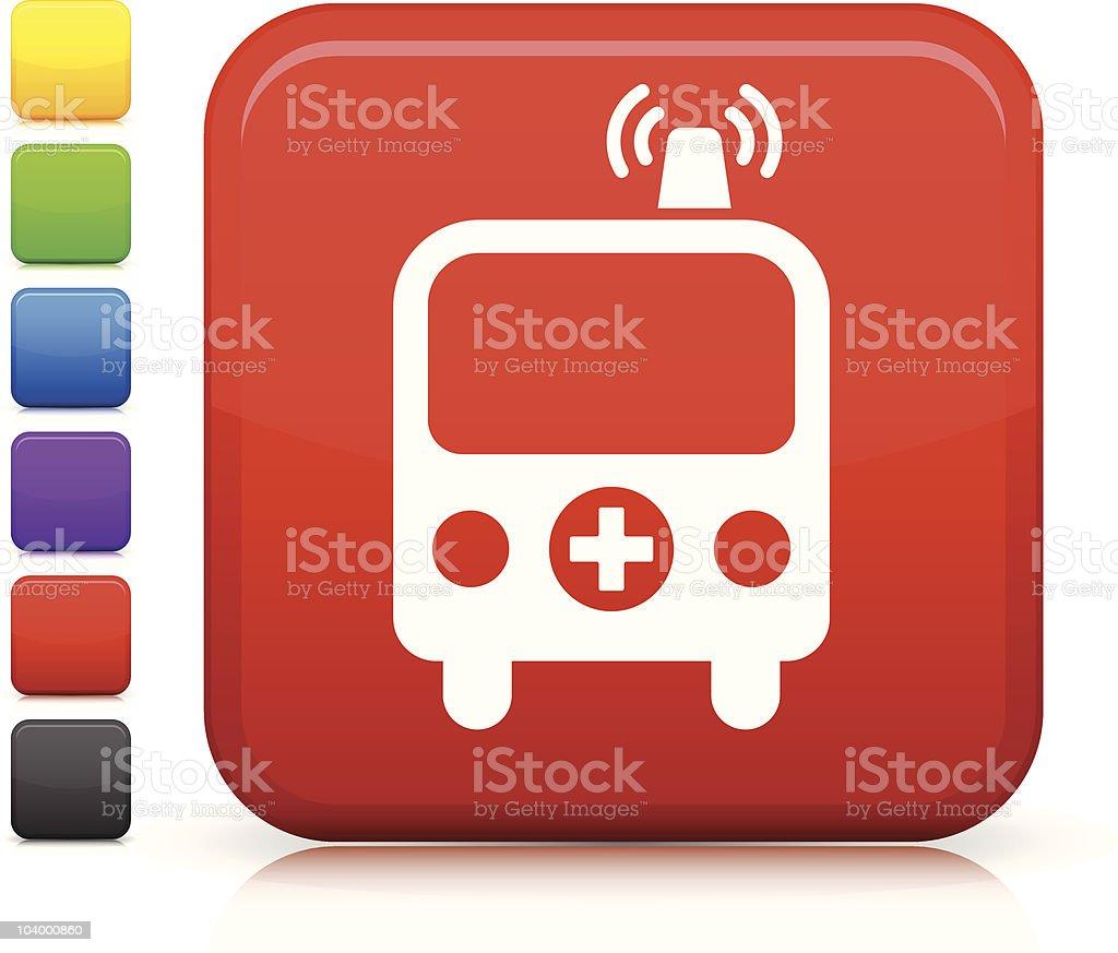 ambulance square icon royalty-free stock vector art