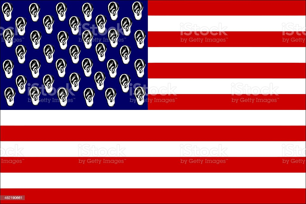 America bugged European Union royalty-free stock vector art