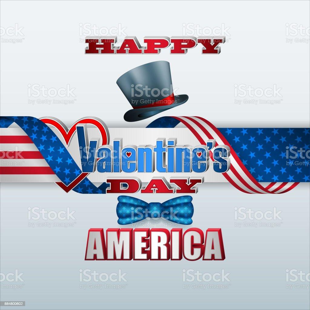 Amerika Feier Des Valentinstag Vektor Illustration 884800602 | iStock